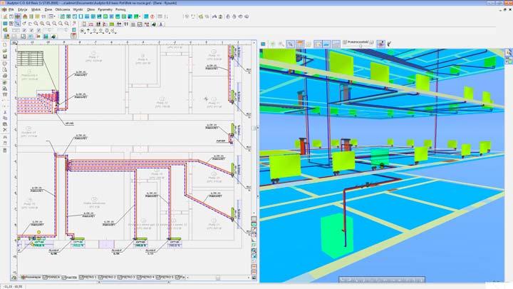 Программа Audytor CO компании Sankom для просчета системы водяного теплого пола