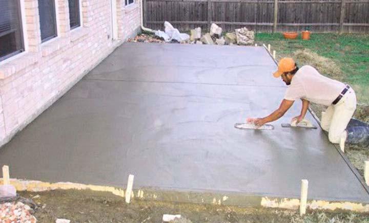 Готовая бетонная стяжка под тротуарную плитку