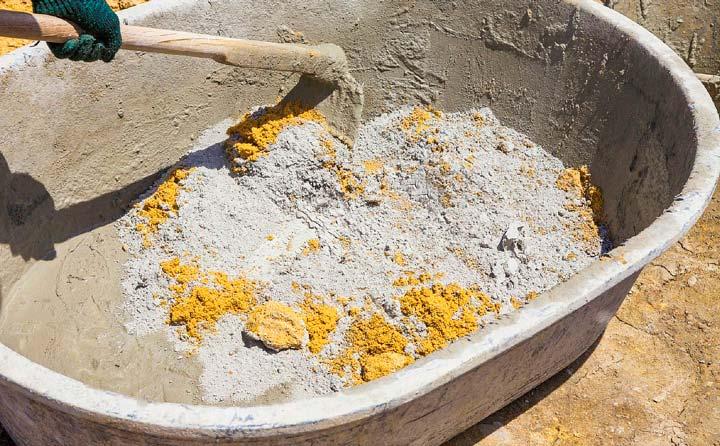 Цементно-песчаная смесь для тротуарной плитки