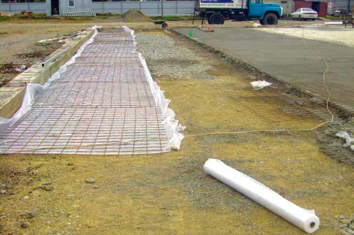 Разметка и подготовка площадки для бетонной стяжки