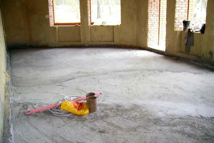 Подготовка поверхности перед укладкой теплого пола