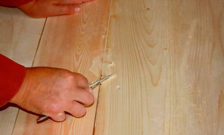 Шпаклевка деревянного пола для выравнивания