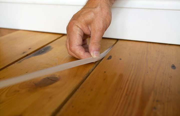 Шнурок с ПВа от скритпа половиц деревянного пола