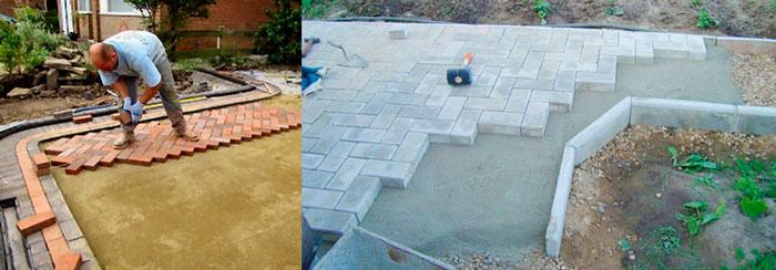Уличная плитка на песок и на бетон