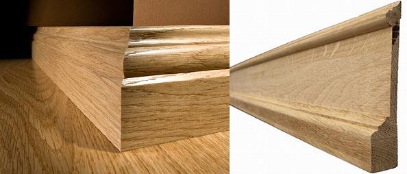 Широкие деревянные плинтуса