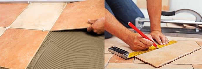 Разметка и укладки керамической плитки
