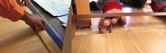 методы установки порожков на ламинат