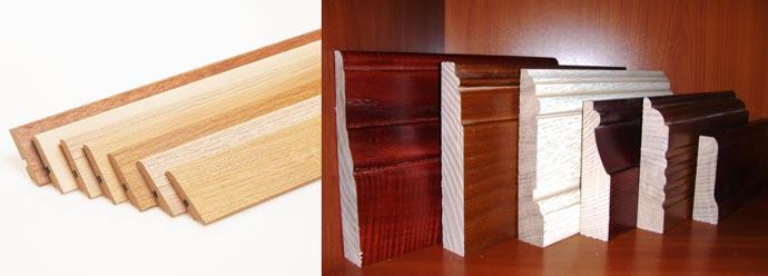 Разновидности плинтусов напольных деревянных