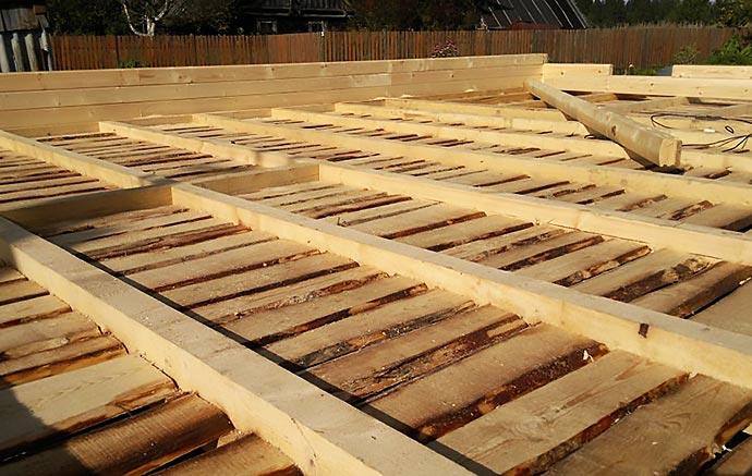 Черновой пол для деревянного дома