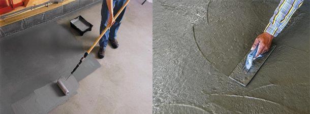 Варианты железнения бетона