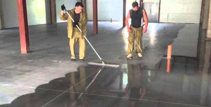 Покрвтие лаком бетонных полов