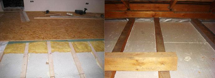 Утепление пенопластом деревянных полов