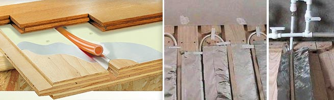 Монтаж теплого пола на деревянный пол