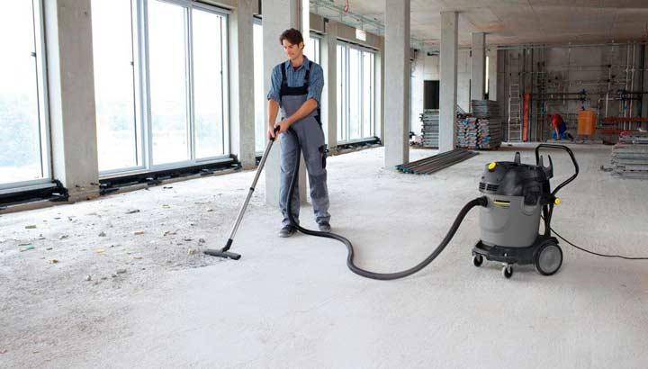 Очистка бетонного пола перед нанесением лака