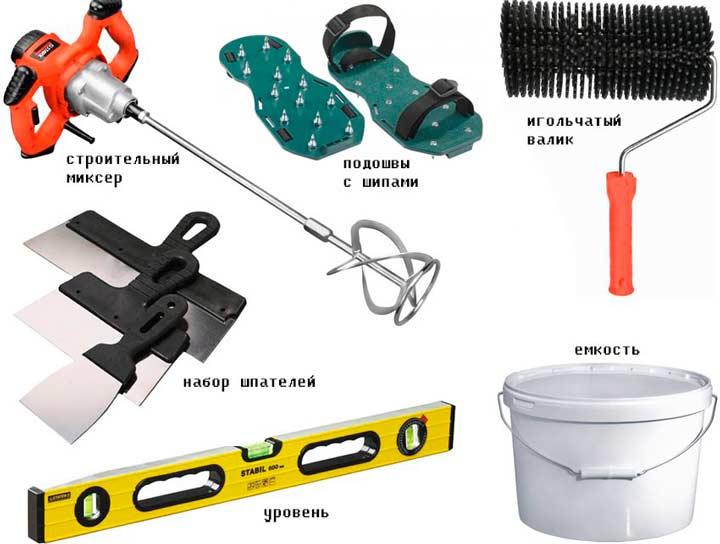 Инструменты для выравнивания пола