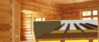 Полы в деревянном доме - схема