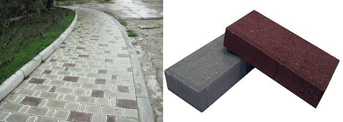 Литьевая и персованная тротуарная плитка