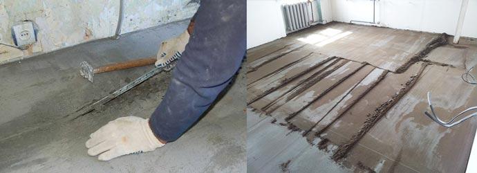Удаление маяков из бетонного пола