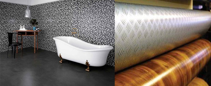 Стеновой линолеум в ванных комнатах