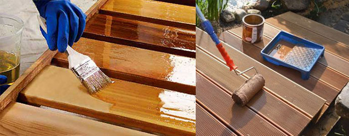 Покрытие террасы маслом
