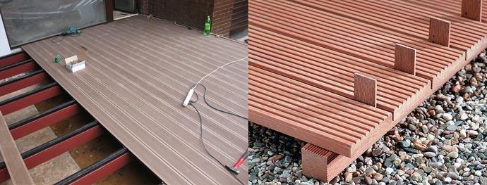 Мнтаж терасной доски с зазором и встык