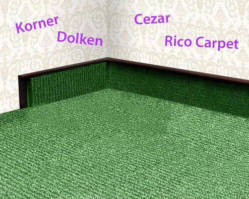 Ковролиновый плинтус: Korner, Dolken, Rico Carpet, Cezar