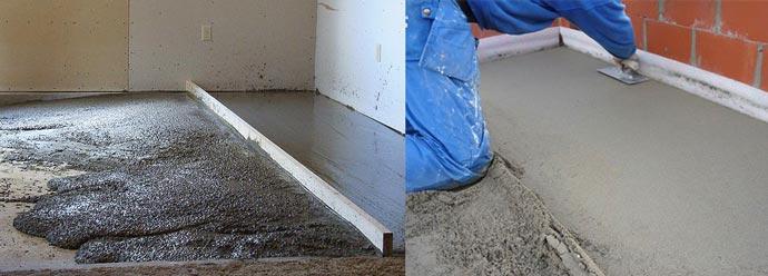 Монтаж цементно-песчаной стяжки
