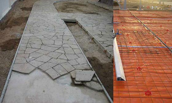 Армирование площадок и дорожек под бетон