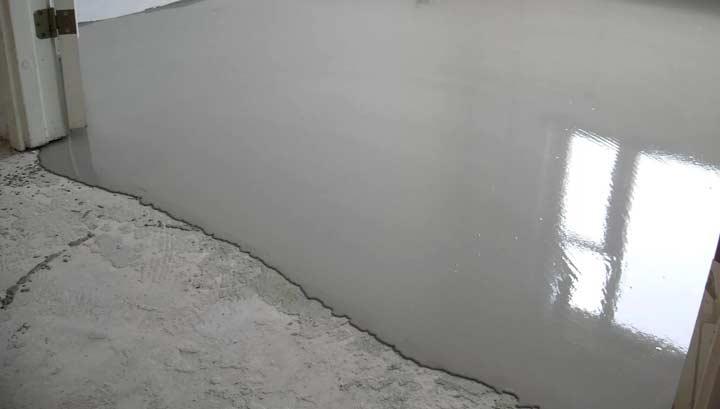 Наливной пол на гипсовой основе
