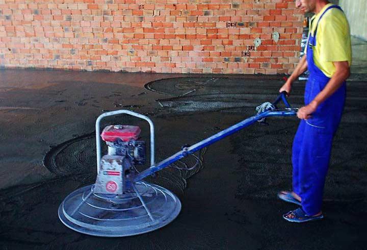 Методики нанесения бетонного пола