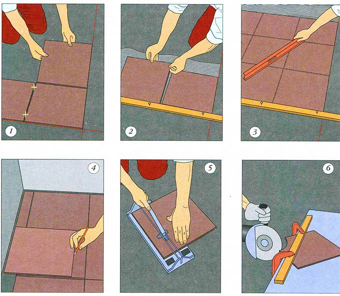 Схемы технологии монтажа плитки на пол
