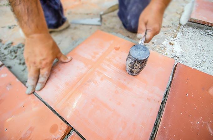 Монтаж плитки на улице на раствор
