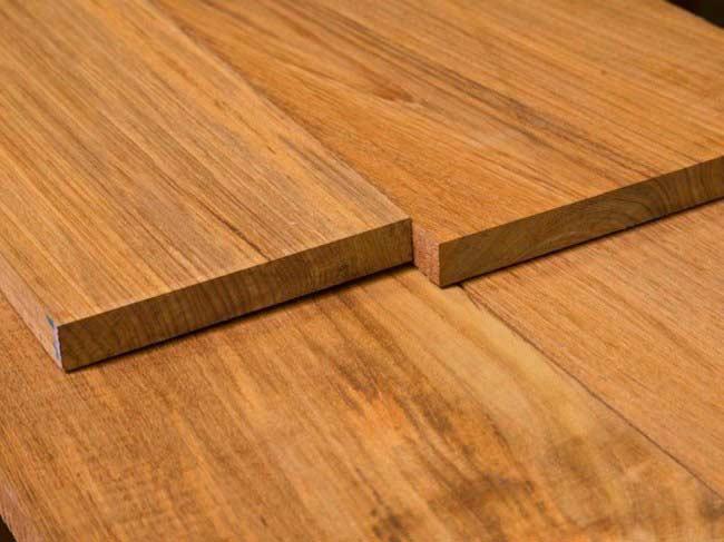 Палубная доска из древесины тика