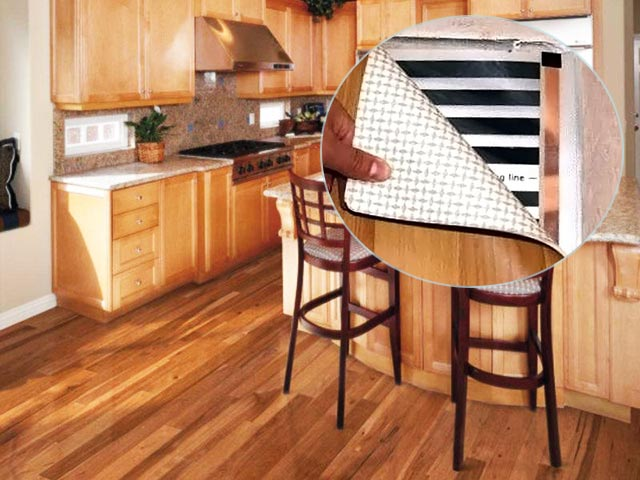 Линолеум на кухне и теплый пол