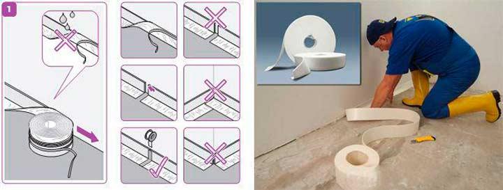 Легкость монтажа демпферной ленты