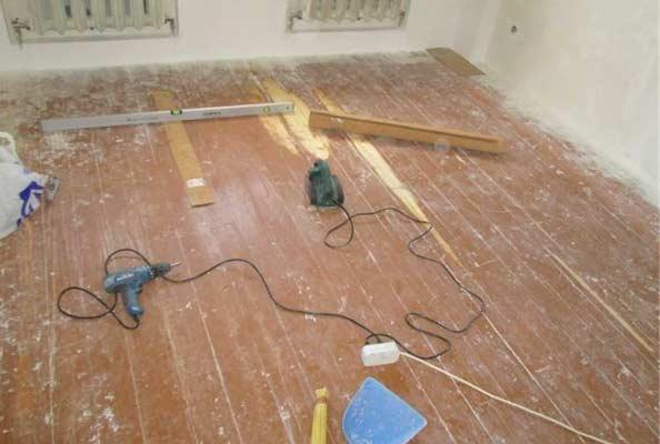 Подготовака деревянного основания