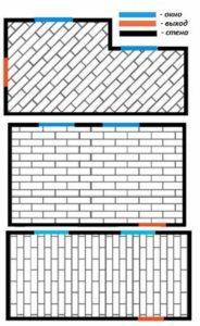 Три схемы укладки ламината