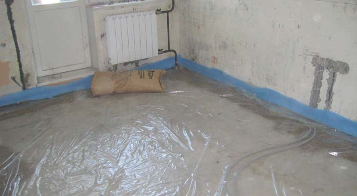 Гидроизоляция бетонного пола перед стяжкой