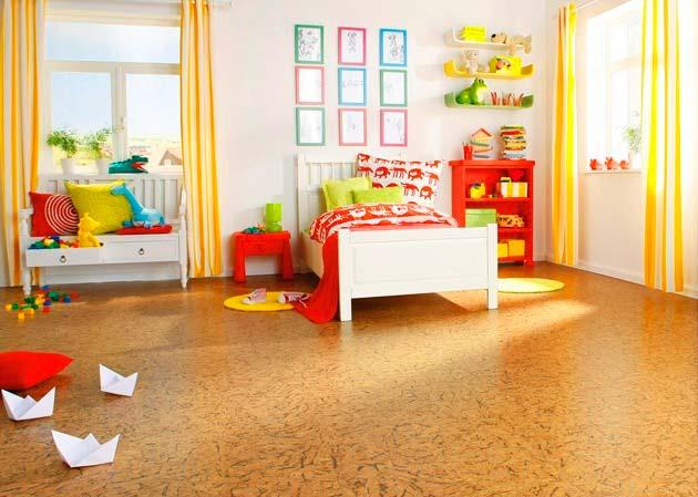 Пробковый пол в детской комнате