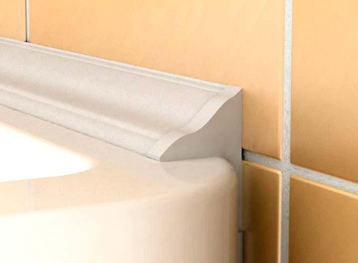 Пластиковые бордюры для ванной комнаты