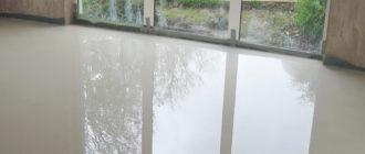 Пример готового наливного пола