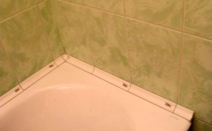 Керамический плинтус в ванную