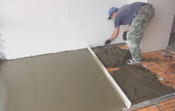 Делаем бетонный утепленный пол