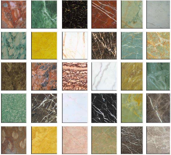 Разнообразие плитки по цвету и фактуре