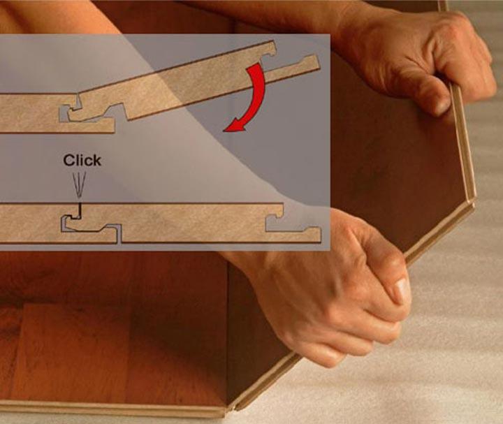 Ламинат с замковой системой типа «Click»
