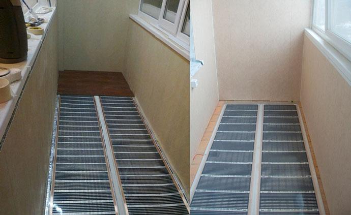 Инфракрасные телпые полы на балконе
