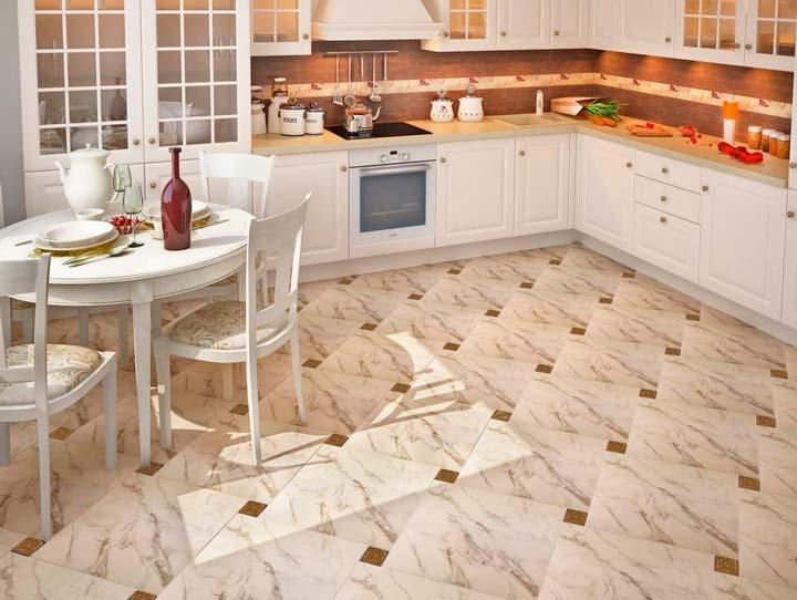 Кухонная плитка на полу
