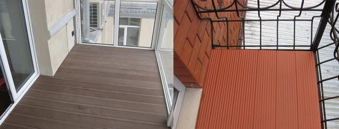 Балкон с покрытием декинг