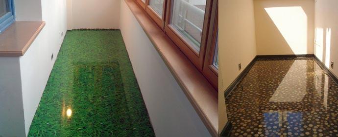 Варианты наливного пола на балконе