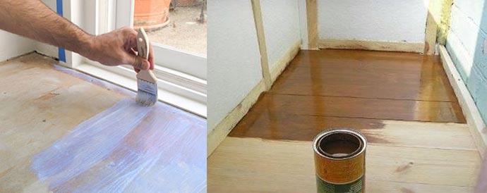 Покрасить пол на балконе